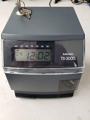 Amano Ts-3000i Automatic Time Sync Web Clock Manual Cd Key Included