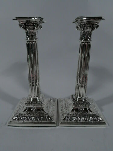Reed & Barton Candlesticks - 297 - Antique Classical - American Sterling Silver