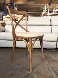 NEW DINING CHAIR: COTTAGE TIMBER TONE CROSSED-BACK CHAIR TRENDSET Leumeah Campbelltown Area Preview