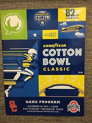 Official 2017 Cotton Bowl Game Program  Ohio State Usc  Free Ship
