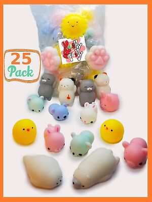 25 Squishy Lot Fast Rising fidget toy Kawaii Cute Animal Hand Toy Wholesale