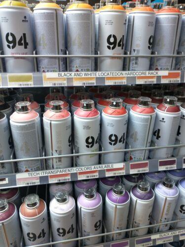 6 Pack Assortment MTN (Montana Colors) 94 Low Pressure Spray Paint