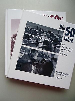 2 Bücher 50er Jahre 60er Karlsruher Jahrzehnt in Bildern 1993 + 1994 Karlsruhe