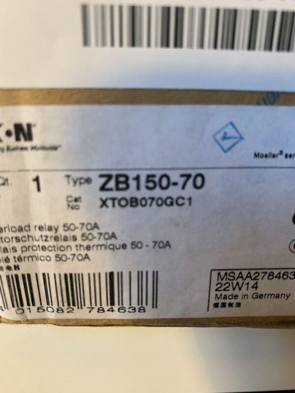 ZB150-70  Overload  Relay  Eaton  XTOB070GC2