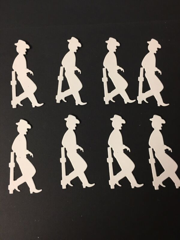 Cowboy leaning on fence post die cuts for cards or scrapbook 8 pieces