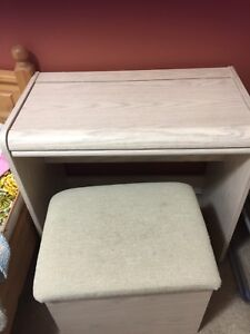 Desk with matching ottoman