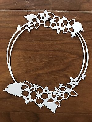 5 Floral Frames Die Cuts For Scrapbooking And Cardmaking.