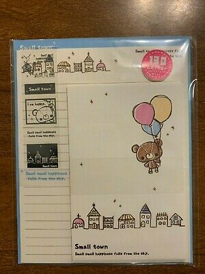 Kawaii Crux Small Town Bear Letter Set w/Stickers Small Letter Set