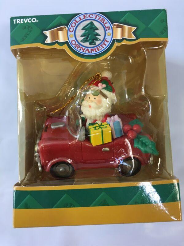 """TREVCO Holiday Ornament NEW """"Santa"""