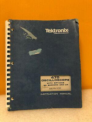 Tektronix 070-1862-00 475 Oscilloscope W Options Instruction Manual