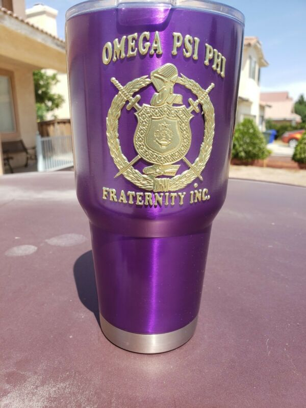 Omega Psi Phi Fraternity -  Double walled Stainless steel Tumbler