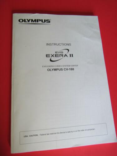 Olympus EVIS Exera II CV-180 Video System Center Instruction Operator