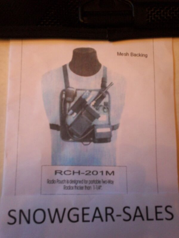 Hands Free, MESH,  Radio Chest Harness W/ Battery pocket  201-M