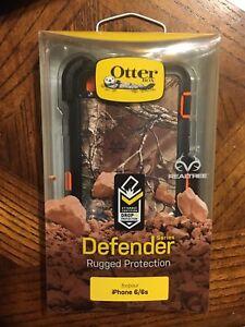 OtterBox Defender case - iPhone 6 / 6S - camo blaze orange