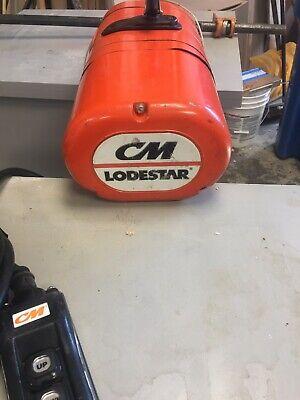 C M 12 Ton Electric Chain Hoist Model F Lodestar 15 Foot Lift 12 Hp