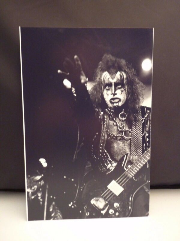 Kiss 1977 L.A. Forum Gene Simmons Live 8x12 Photo #8 From Original Negative