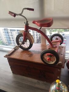 Vintage AMF junior tricycle as found. Great patina!