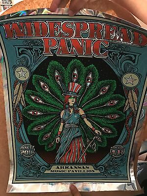 Widespread Panic June 17 2016 by Matt Leunig Lava Foil Print Poster