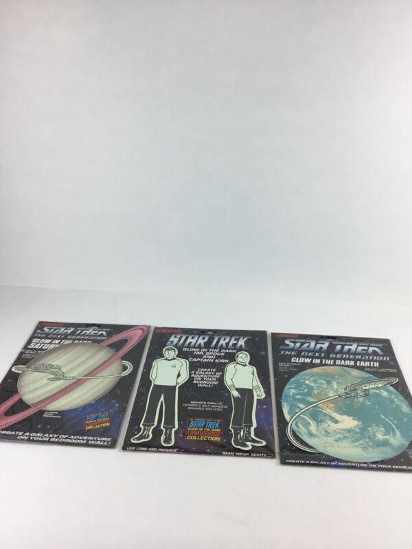 Star Trek -Glow In The Dark- Classic Spock and Capt. Kirk-1991 -SEALED Earth Sun