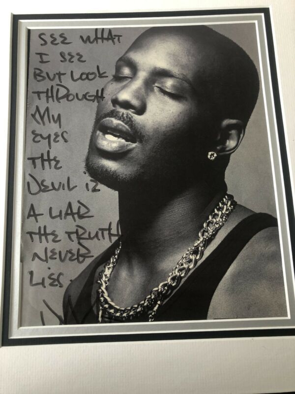 DMX Signed Written Poem One Of A Kind (COA)