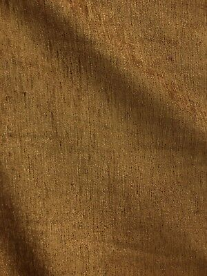 ANTIQUE GOLD SOLID CHENILLE VELVET UPHOLSTERY DRAPERY FABRIC (54 in.) Sold BTY - Gold Fabric