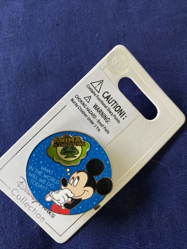 Disney Parks Mickey What In The World Will We Do Today ? Spinner Trading Pin NOC