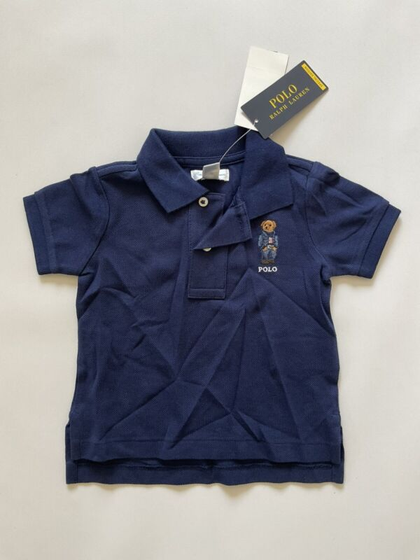 $25 Polo Ralph Lauren Baby Polo Shirt In Navy Size 9 Months