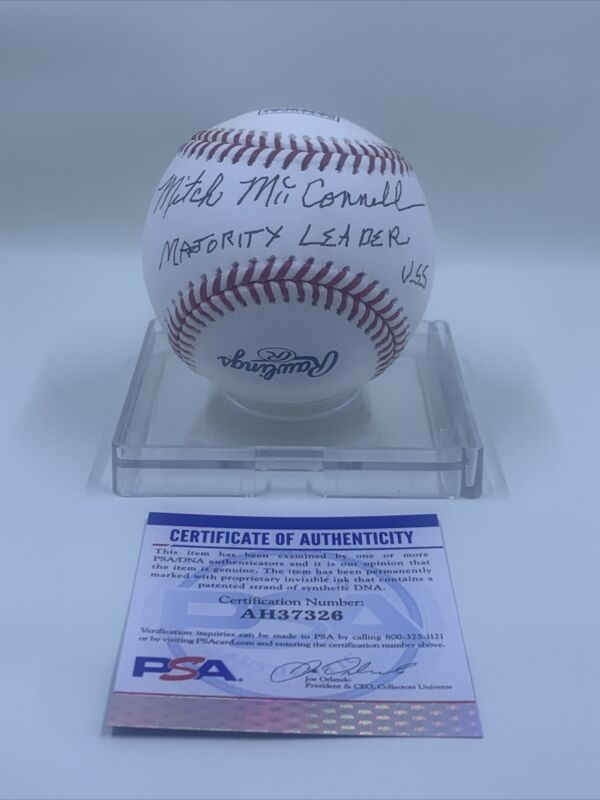 Mitch McConnell Signed Baseball Rawlings HOF PSA/DNA Senate Majority Leader