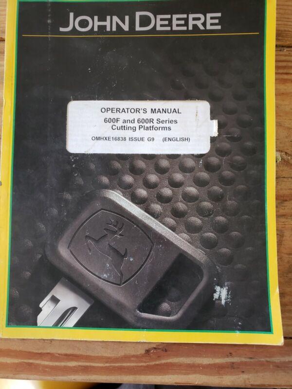 John Deere 600R 600F Platform Operators Manual
