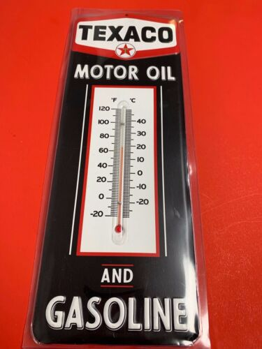 TEXACO Thermometer Retro Gasoline Oil Vintage Style Wall Garage Sign Gas NEW