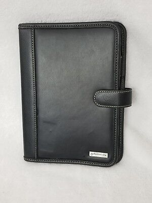 Black Leather Classic Franklin Covey Folio Note Pad Folder Planner Cover