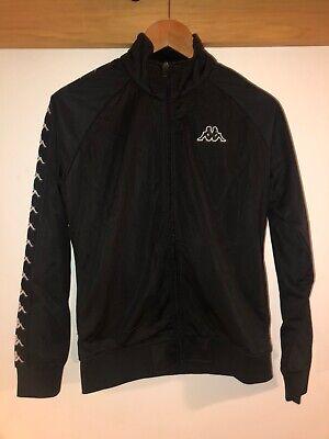 Black Kappa Track Jacket Women's Large/men's Small