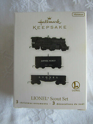 2010 Hallmark Ornament Lionel Scout Set Miniature Trains NIB