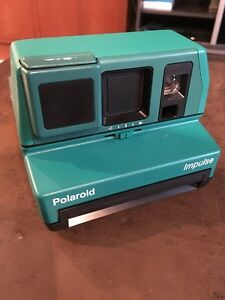 Rare Green Polaroid Impulse 600 Film Camera