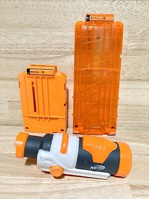 Lot of 2 Nerf Dart Gun Ammo Magazines 6 | 12 + Modulus ECS-10 Tactical Scope