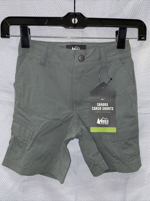 REI Sahara Shorts - Sage Grey - Boys XXS (4-5)