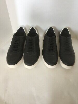 New Zara Man Sz US 10/ EUR 43 Black & White Snake Skin Pattern Sneakers