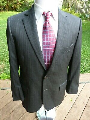 Brooks Brothers 1818 Fitzgerald Suit 42R CHARCOAL Wool 35Wx31 ITALY 2-Btn Lardin