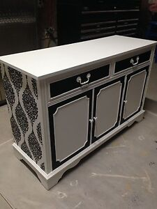 Gorgeous Vintage Custom finished Credenza / Buffet