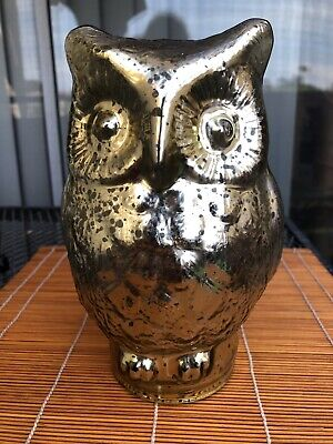 Glass Owl Flickering Night Light Halloween Decoration