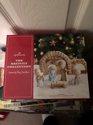 2012 Hallmark Porcelain Christmas The Nativity Collection Set by Mary Hamilton