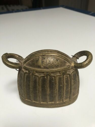 Antique Bronze Burmese Water Buffalo Bell, 19th Century