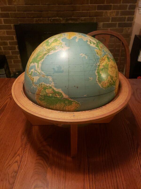 "1968 Denoyer-Geppert Co. Cartogcraft Physical-Political 16"" Globe C.B. Odell"