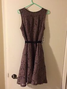 Light brown dress with sash-size L