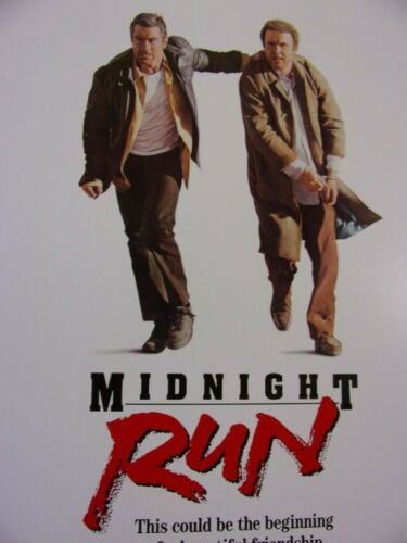 MIDNIGHT RUN Original THEATER-USED Movie Poster 27x41 Rolled One Sheet SS - C7