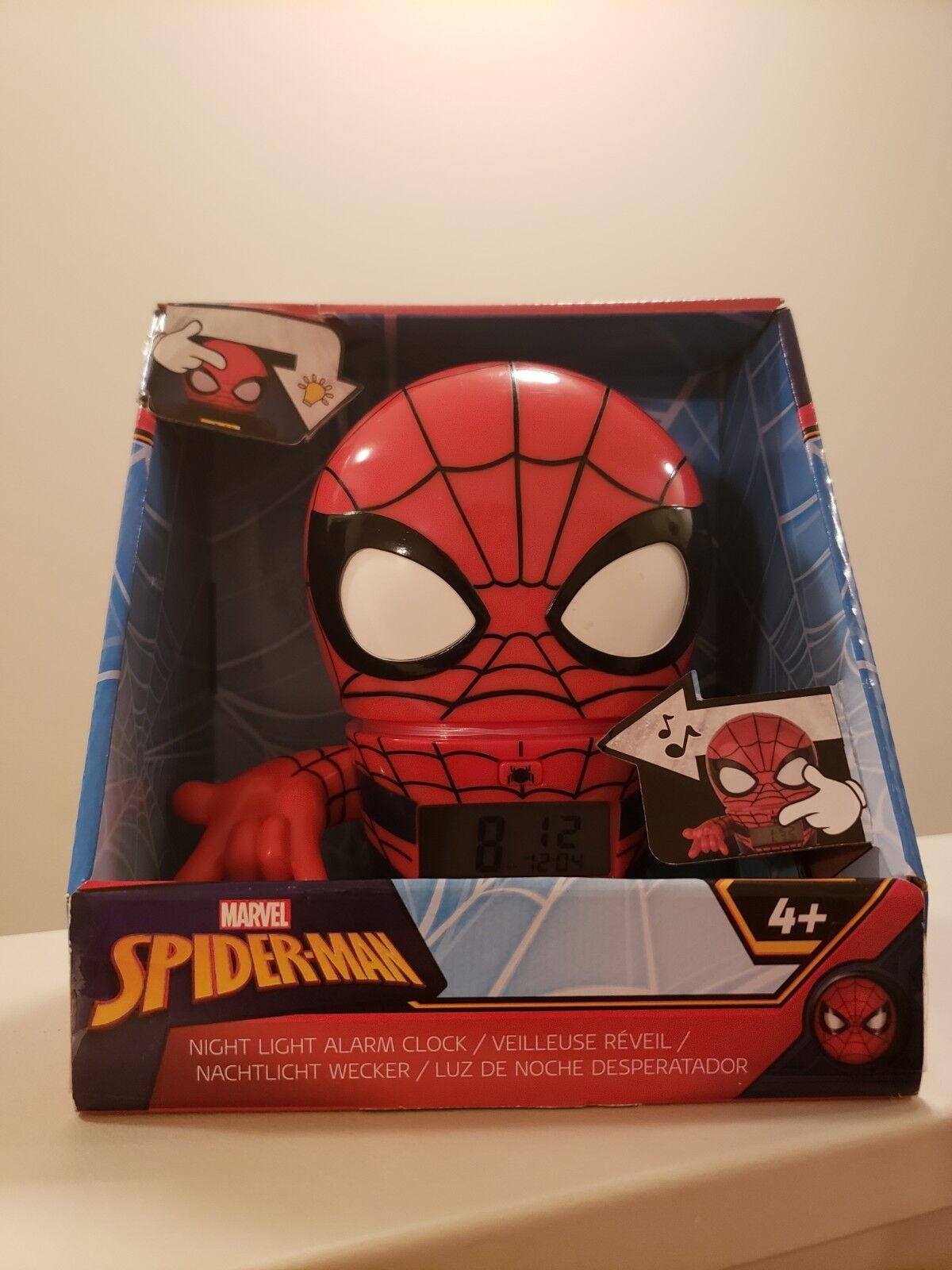 Marvel Spider-man Night Light Alarm Clock BulbBotz NEW in Box