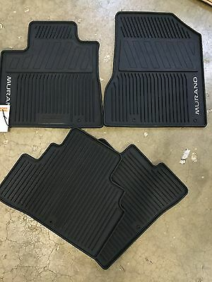 NEW OEM NISSAN MURANO 2015 2017 ALL WEATHER RUBBER FLOOR MAT SET 4 PC SET