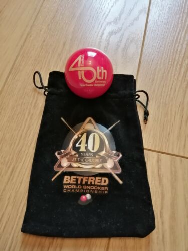 World Snooker. 40th anniversary. Signed. Mark selby. Snooker ball