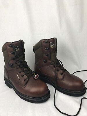 (Georgia Men's GB00035 Composite Toe Brown Leather Nylon Lace Work Boots 8.5W)