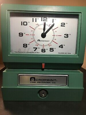 Acroprint 01-2070-40a Model 150er3 Heavy-duty Automatic Print Time Recorder